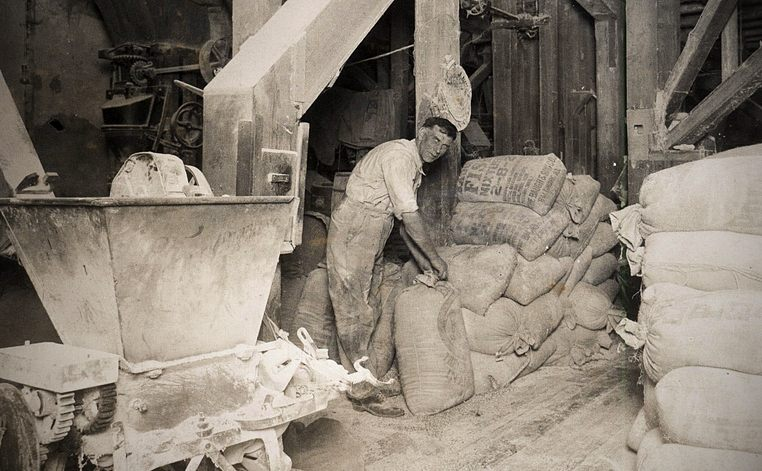 Mr. Alger inside Mill