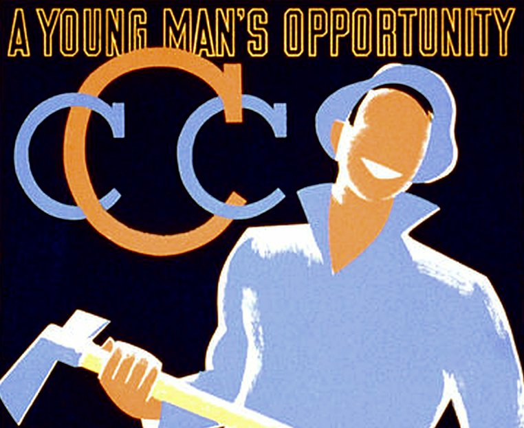 Civilian Conservation Corps recruitment poster from 1935