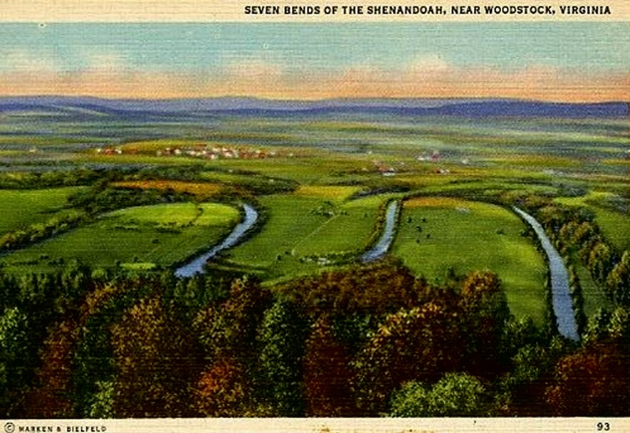 Seven Bends of the Shenandoah River in Woodstock, Va.