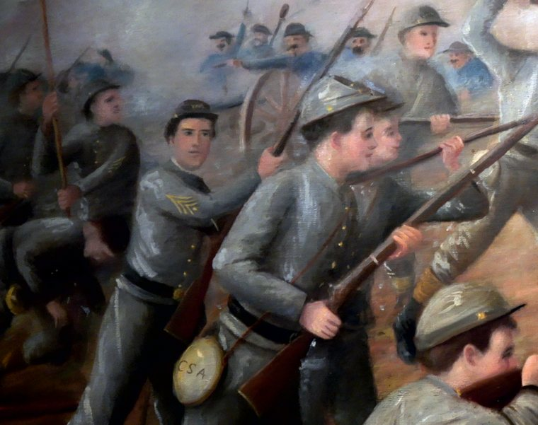 VMI Cadets at New Market - Painting in the Virginia Museum of the Civil War