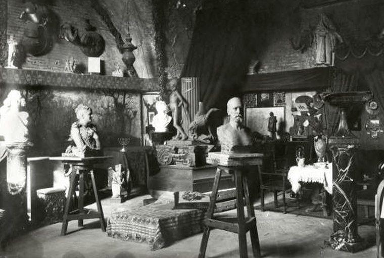 Moses Ezekiel art studio in Rome