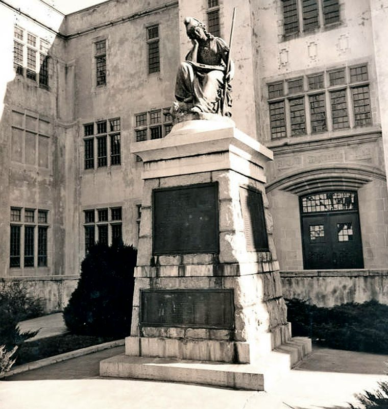 Virginia Mourning Her Dead, sculpture at VMI by Moses Ezekiel