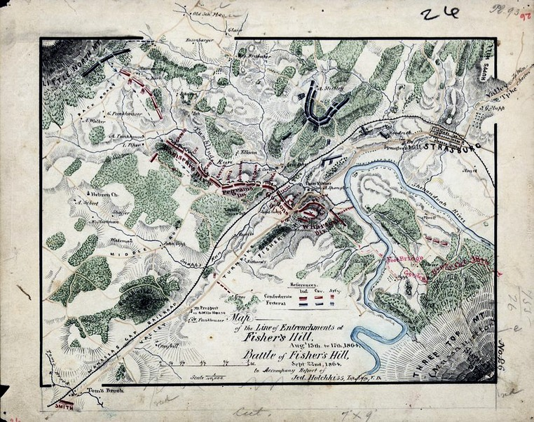 Fishers Hill battle map