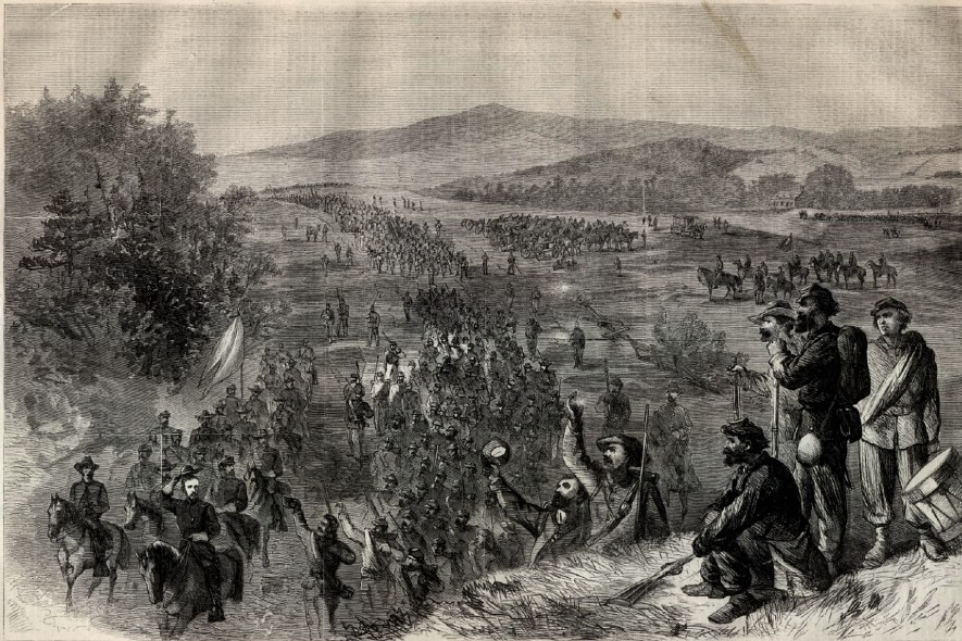 Union Civil War troops in the Shenandoah Valley of Virginia