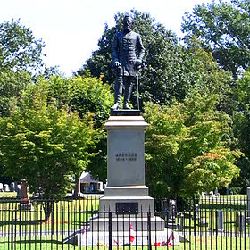 Stonewall Jackson grave in Lexington, Va.